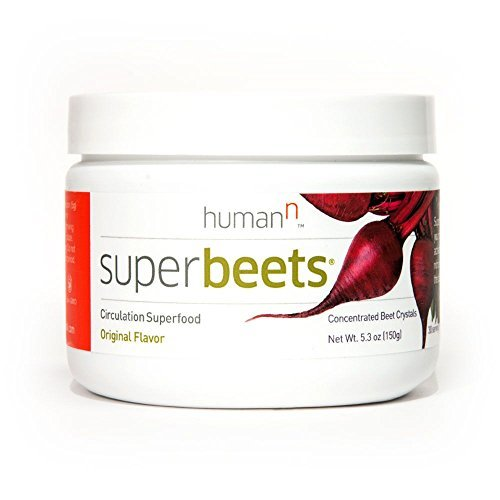 Beet Juice Benefits (HumanN SuperBeets Original Flavor - Circulation Superfood - Premium Nitric Oxide Booster - Non-GMO Nitrate Rich Beet Root Powder - 5 ounce 30 servings.)