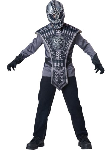 InCharacter Costumes Alien Warrior Costume, Size 8/Medium (Alien Child Mask)