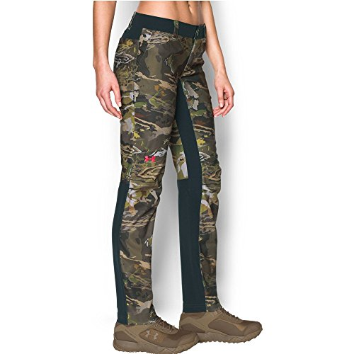 Under Armour Women's Fletching Pant, Ridge Reaper Camo Fo/Anthracite, 8