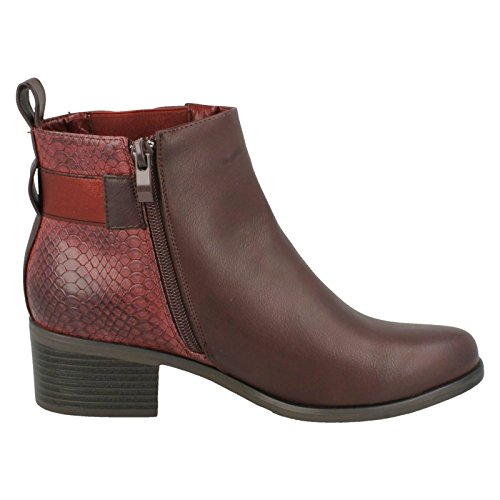 Heeled Burgundy Chelsea Ladies Earth Down Boots To Red 16wTqgHtHx