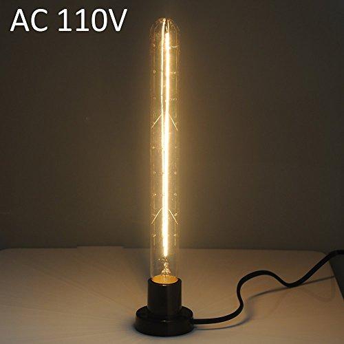 [T300 E27 40W 600Lm Nostalgic Tungsten Filament Long Tube Bulb Warm White Light ( AC 110V )] (Costumes Starting With L)
