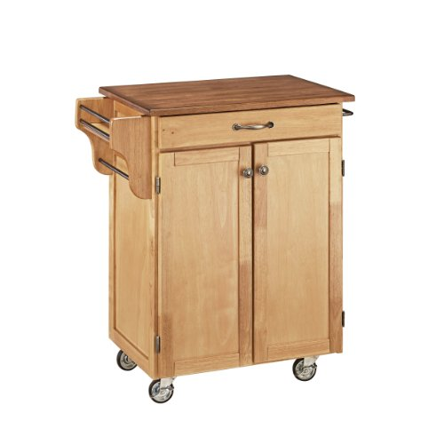 Create-a-Cart Natural Kitchen Cart with Oak Top by Home Styles