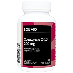 Amazon Brand - Solimo Coenzyme Q-10 200mg, 90 Softgels, Three Month Supply