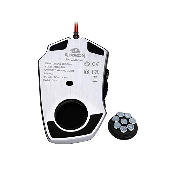 Redragon M990 Legend 24000 DPI High-Precision Programmable Laser Gaming Mouse for PC, MMO FPS, 16 Side Buttons, 5…