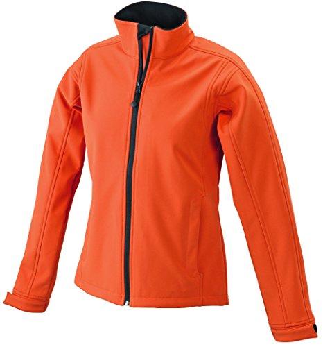 Femme Ladies Windbreaker Softshell Transpirante Pop orange Antivent Veste Imperméable Jacket dHnWUcd4q