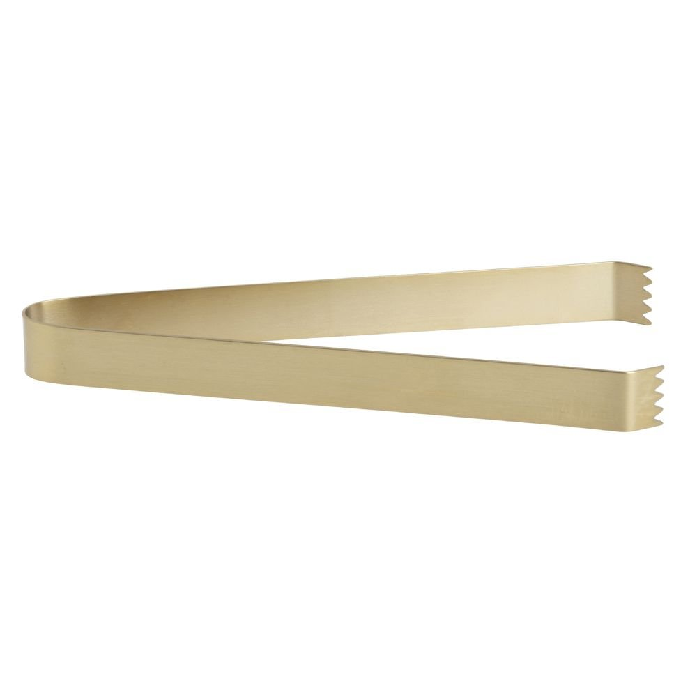 FOH Brass Pom Ice Tong - 7''L by Front of the House