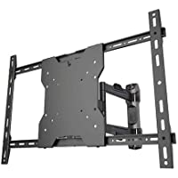 Crimson AV AU65 Worlds Thinnest Articulating Mount Solution for 13 to 65 Screens, Black, 1.09 Depth from wall, 20 Max extension, 180° Pivot, 3° Roll (side to side), 80lb (36kg) Weight capacity