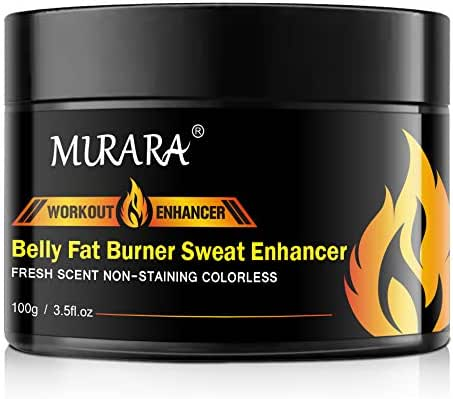 Fat Burning Cream for Belly, Slimming Hot Cream for Abdomen, Natural Sweat Workout Enhancer, Cellulite Treatment for Thighs, Legs, Abdomen, Arms and Buttocks, for Men & Women-3.5 Oz