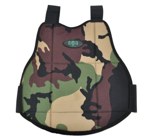 3Skull Paintball Reversible Chest Protector - Black/Camo - Small/Medium by 3Skull