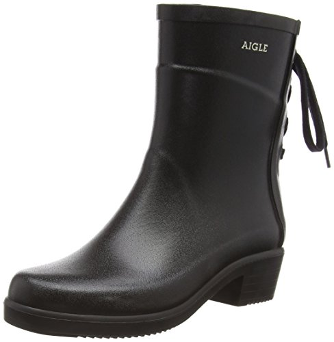 Bottillon Miss Black Women's Aigle Juliette Wellington Boots x0wTqRtq