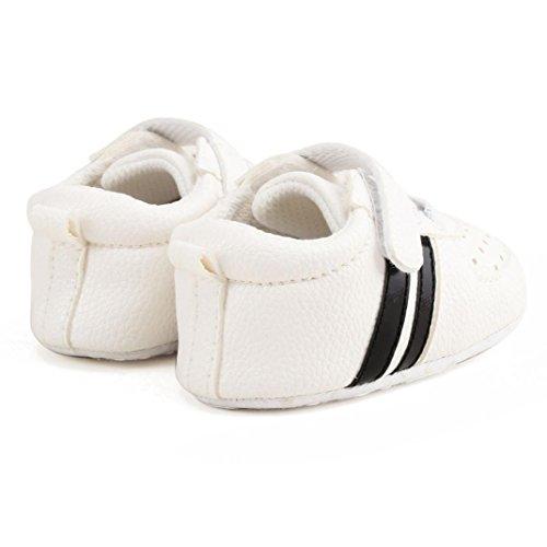 BZLine® Baby Kleinkind Krippe Schuhe Prewalker Soft Sohle Sneakers Weiß