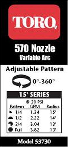 Toro 53730 Adjustable Underground Sprinkler Nozzle 15-Foot Spray