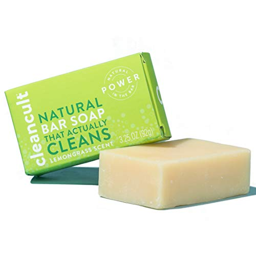 Natural Hand Bar Soap that Actually Cleans! - Lemongrass Scent - 100% Organic - Eco-friendly - Moisturizing - Safe for Kids - Baby Safe - Chemical Free - Effective | by cleancult (3.25oz)