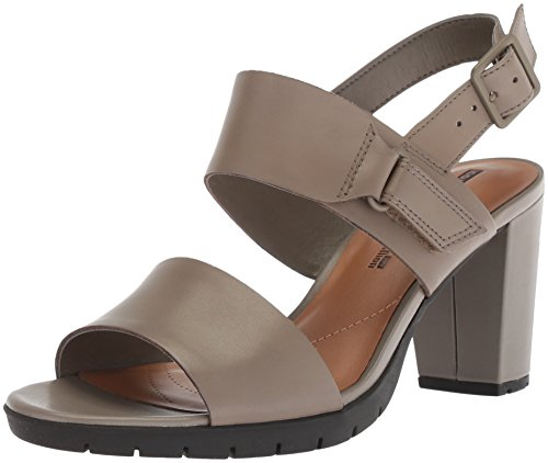 CLARKS Women's Kurtley Shine Platform, Sage Leather, 9 Medium US by CLARKS
