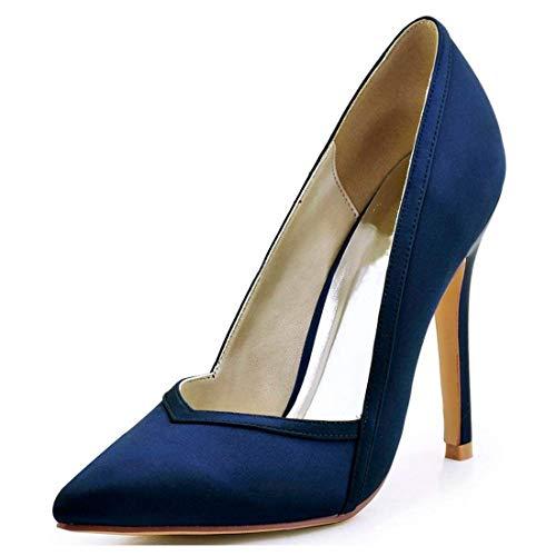 Heel Heel Stiletto 3 Dames Pink À 10cm Pompes 10cm coloré Hauts Orteil Black Uk Qiusa Taille Pointues Talons q1TwCS