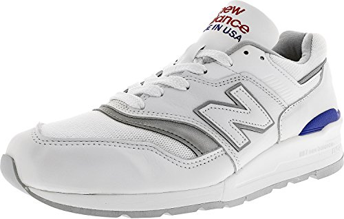 New Balance - Mens Made in the USA ML997CV1 Classics Shoes White/Blue discount good selling new arrival cheap online MpWmW7Q