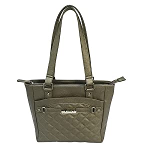 NcSTAR NC Star BWH002, Vism Concealed Carry Quilted Tote, Gray