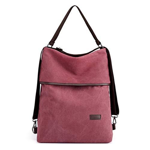 CHENGYI Borsa a Tracolla Messenger Borsa a Tracolla Ladies Fashion Handbag Travel Casual Crossbody Bags Satchel Red