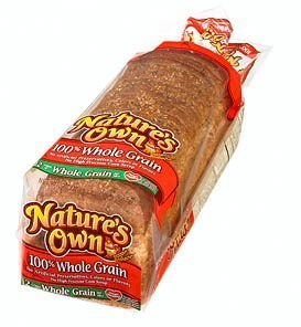 NATURES OWN WHOLE GRAIN BREAD 100% PER LOAF 20 OZ by NATURES OWN At The Neighborhood Corner Store ()