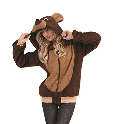 Bear Hoodie Adult Costume