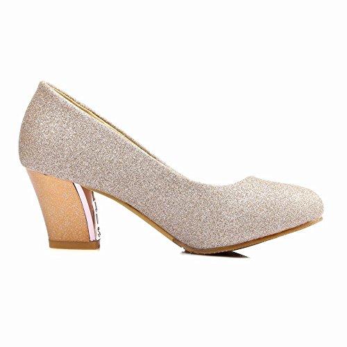 Da Tacco Corte Fashion Blazer Alto Oro Scarpe Carolbar Donna Block gPqp5WSa