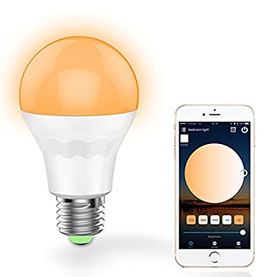 Farway Led Smart Light Bulb Work with Alexa Google Home E27 7.5W Warm White Cool White Smart WiFi LED Light Bulb AC100-264V