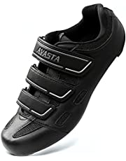 AVASTA Unisex Indoor Cycling Shoes with 3 Straps,Road Mountain Bike Cycling Shoes Compatible with SPD, Delta Cleats,Wide Type,