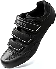 AVASTA Unisex Indoor Cycling Shoes with 3 Straps,Road Mountain Bike Cycling Shoes Compatible with SPD, Delta C