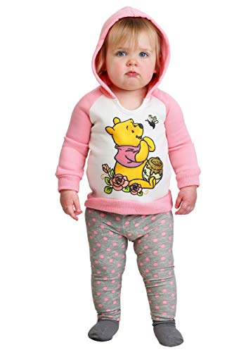 - Disney Baby Girls Winnie The Pooh 2 Piece Fleece Set, Peach 12M