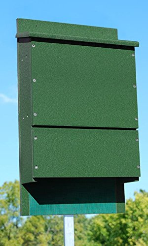Songbird Essentials SE598 Green OBC Bat House Triple Chamber Poly (Set of 1) ()