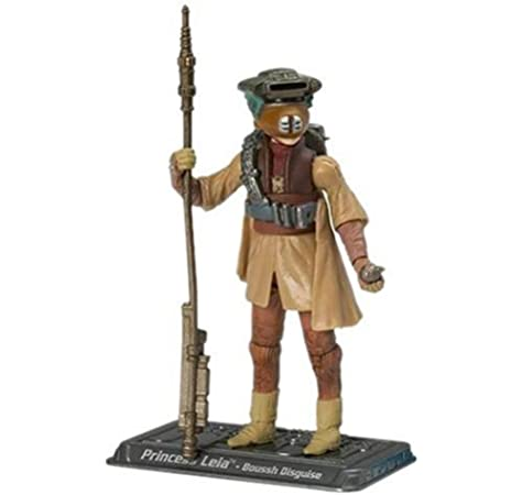 Amazon Com Star Wars The Saga Collection Basic Figure Princess Leia Boushh Disguise Toys Games