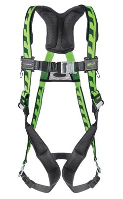 (Honeywell AC-QC/UGN Miller by Universal DuraFlex AirCore Full Body Style Harness with Back D-Ring, Quick Connect Leg and Chest Strap Buckle and Sub-Pelvic Strap, Plastic, 5.6