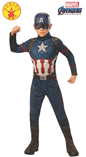Captain America Pet Costume (Rubie's Marvel: Avengers Endgame Child's Captain America Costume & Mask,)