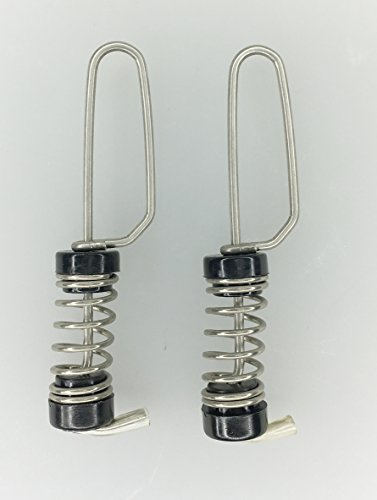 (Pactrade Marine Boat SS Flag Clips Pair Antenna Mount Spring Loaded Halyard)