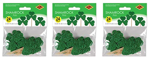 (Beistle 30054 Shamrock Picks, 72 Piece, 3.25