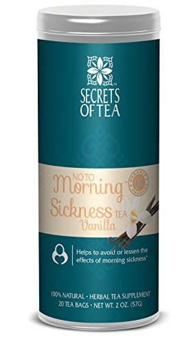 - No To Morning Sickness Pregnancy tea-Certified Organic Vanilla- No Caffeine- Morning Sickness Relief,Nausea, Constipation- 20 Unbleached T Bags -Delicious Hot or Cold-Up To 40 Cups