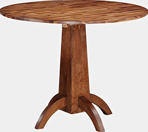 Wood Folding Dining Table with 2 Leaves - Extendable Dining Table - Acacia