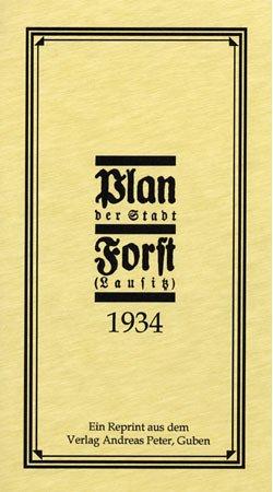 Plan der Stadt Forst (Lausitz) 1934: Maßstab: 1 : 12500