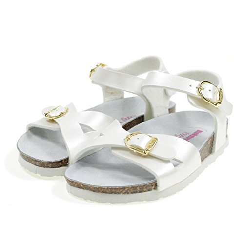 Bionatura Birk Italy White Made 22B1005B in White Model Buckle Sandals with qrwg7rt