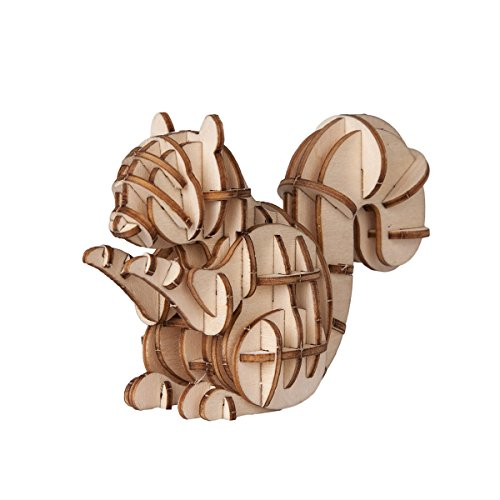 Wood Squirrel - Torch 3D Wood Puzzle Wooden DIY Children Gift Collection (Squirrel)