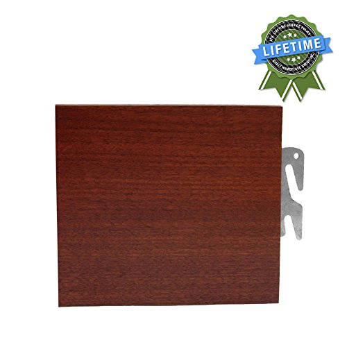 76'' L Twin / Full Bed Claw Replacement Wood Bed Rails (Medium Finish) by Homeplace Group