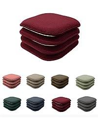 4 Pack GoodGram Non Slip Honeycomb Premium Comfort Memory Foam Chair Pads Cushions