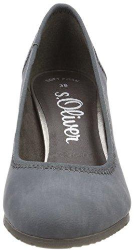 oliver Con 22404 S Blu Tacco Donna denim Scarpe gta1wx1qBd