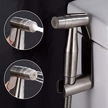 CIENCIA De mano del bidé del rociador superior de acero inoxidable Pulverizador Shattaf - Bidé Conjunto completo de WC, bidé mano pulverizador para WC ...