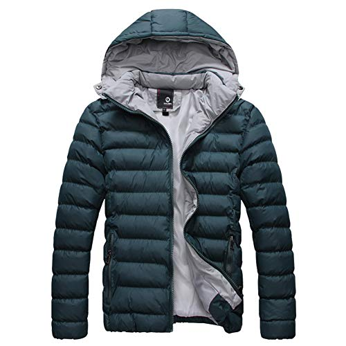 Casual Hooded Outerwear Dagreen Warm Jacket Puffer Detachable Size Down Men's Winter Solid Coat Padded Plus Color ZAqw6FYd