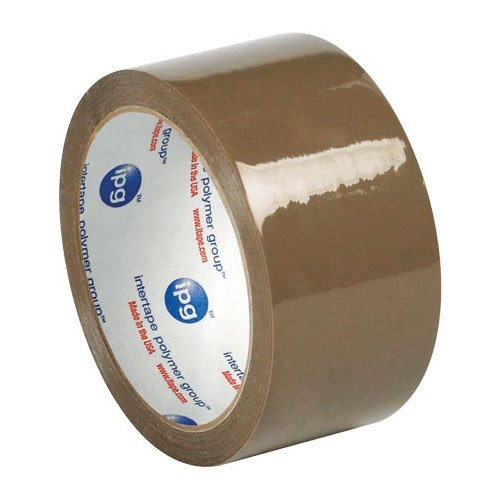 Intertape T901500T Rubber Carton Sealing Tape, 2.0 mil Thick, 55 yds Length x 2