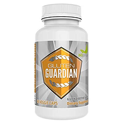 Premium Gluten Digestion Enzymes for Relief - Aids As A Cutter for Hard to Digest Gluten - Free of Artifical Ingredients - Easy-to-Swallow Pills - 90 Capsules - Guard Against Contamination - Gluten G