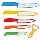 Bluchen Ceramic Knife Set (6 Pcs Set, Colorful)
