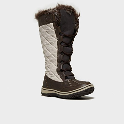 Women's UK4 Snow Bundall Brown Alpine Boots dxYqXA