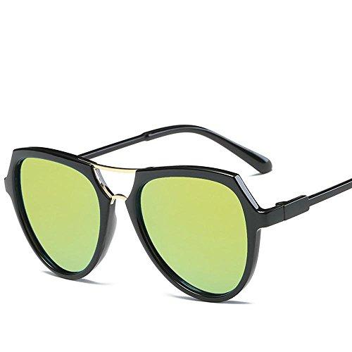 Aoligei Double faisceau lunettes version coréenne fashion lumineux couleur lunettes de soleil réfléchissantes QoyuudXK